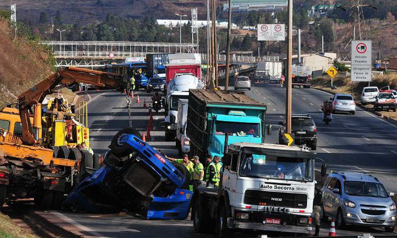 Minas tem nove acidentes com vítima por hora
