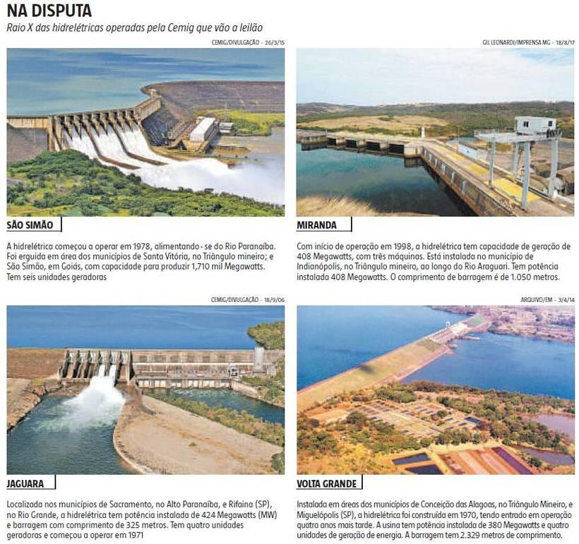 Usinas hidrelétricas da Cemig serão leiloadas hoje sob protestos