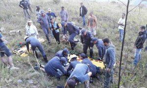 Instrutor de paraglider e criança sofrem acidente durante salto em Poços de Caldas